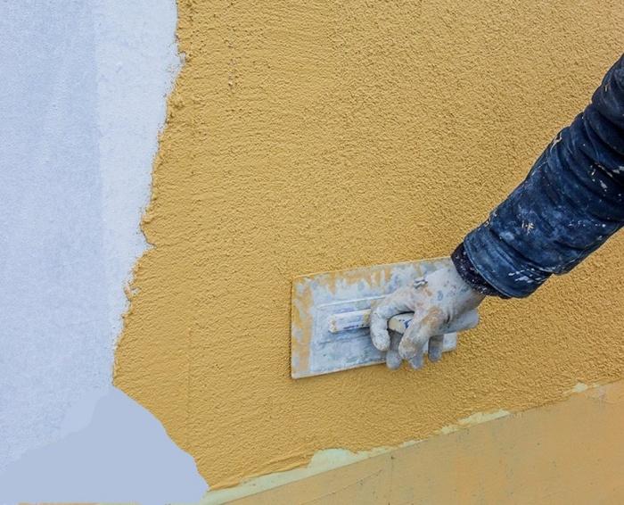 Можно ли штукатурить цементным раствором пеноплекс клумбы бетон