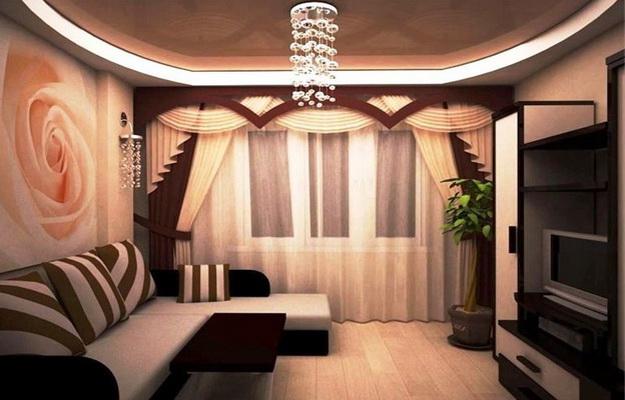 Двухуровневые натяжные потолки в зале – монтаж конструкций в зале в 2  уровня, дизайн потолка в два уровня, каркас двух уровневый, конструкция  двухъярусного потолка по периметру — Мини гостиница «Отель А»
