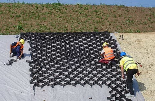 георешетка залитая бетоном