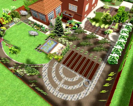 планировка сада огорода