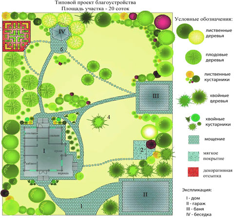 схема посадки растений